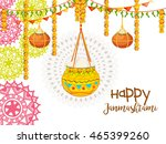 creative illustration poster or ... | Shutterstock .eps vector #465399260