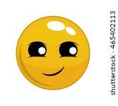 happy face cartoon sphere... | Shutterstock .eps vector #465402113