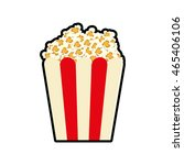 pop corn fast food cinema icon. ... | Shutterstock .eps vector #465406106