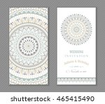 set of vintage wedding... | Shutterstock .eps vector #465415490