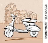 italian scooter in front of...   Shutterstock .eps vector #465420068
