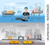 oil industry infographics... | Shutterstock .eps vector #465420620