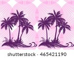 exotic horizontal seamless... | Shutterstock .eps vector #465421190