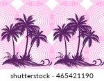 exotic horizontal seamless... | Shutterstock .eps vector #465421190