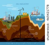 oil industry infographics... | Shutterstock .eps vector #465421778