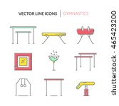 thin line vector icon set with... | Shutterstock .eps vector #465423200