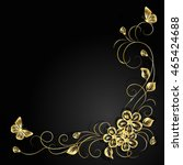Gold Flower Pattern And...