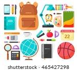 back to school icons. school...   Shutterstock .eps vector #465427298