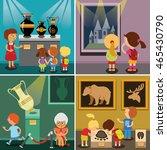children visiting  antique... | Shutterstock .eps vector #465430790