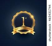 1st anniversary celebration... | Shutterstock .eps vector #465431744