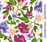 vector floral watercolor... | Shutterstock .eps vector #465432926
