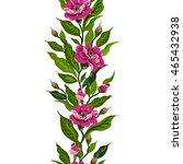 vector floral watercolor... | Shutterstock .eps vector #465432938