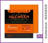 halloween party invitation. | Shutterstock .eps vector #465436520