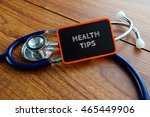 medical concept.word health... | Shutterstock . vector #465449906