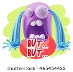 3d illustration sad character... | Shutterstock . vector #465454433