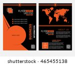 abstract flyer design... | Shutterstock .eps vector #465455138
