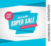 super sale. only this weekend... | Shutterstock .eps vector #465456854