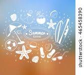 white symbols on the sea... | Shutterstock . vector #465458390