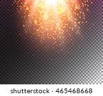 glow light effect on... | Shutterstock .eps vector #465468668
