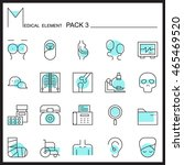 medical line icons.color...