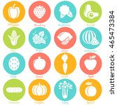 fruits and vegetables. set 1.... | Shutterstock .eps vector #465473384
