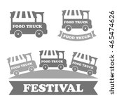 food truck emblems  icons... | Shutterstock .eps vector #465474626