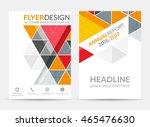 flyer design with geometric... | Shutterstock .eps vector #465476630