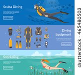 diving and snorkeling... | Shutterstock .eps vector #465480503