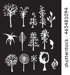 vector chalkboard style tree... | Shutterstock .eps vector #465481094