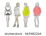 a set of female body types form ... | Shutterstock .eps vector #465482264