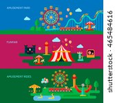 amusement park horizontal... | Shutterstock .eps vector #465484616