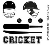 cricket helmets and bats and... | Shutterstock .eps vector #465487139