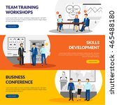 business training consulting... | Shutterstock .eps vector #465488180