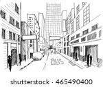 city vector illustration line... | Shutterstock .eps vector #465490400