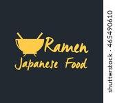 ramen noodles badge | Shutterstock .eps vector #465490610