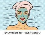 woman with cosmetic mask on...