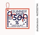 summer sale label discount... | Shutterstock .eps vector #465500744