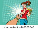 follow me  woman movie popcorn  ... | Shutterstock .eps vector #465505868