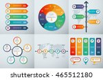 set of infographic templates.... | Shutterstock .eps vector #465512180