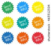 set of stickers with the...   Shutterstock .eps vector #465512534