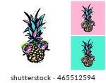 hand drawn summertime fashion... | Shutterstock .eps vector #465512594