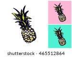 hand drawn summertime fashion... | Shutterstock .eps vector #465512864