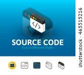 source code color icon  vector...