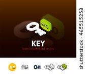 key color icon  vector symbol...