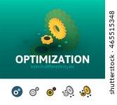 optimization color icon  vector ...