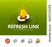 refresh link color icon  vector ...