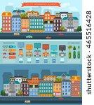 flat city elements infographics ... | Shutterstock .eps vector #465516428