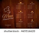 restaurant menu design. vector... | Shutterstock .eps vector #465516620