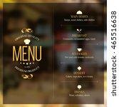 restaurant menu design. vector... | Shutterstock .eps vector #465516638
