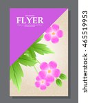 violet flowers on a flyer. can... | Shutterstock .eps vector #465519953